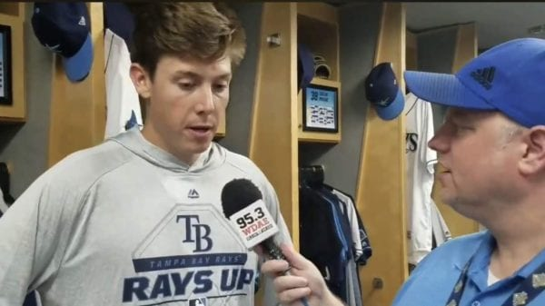 Ryan Yarbrough being interviewed by Steve Carney