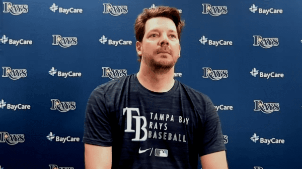 Rays pitcher Rich Hill