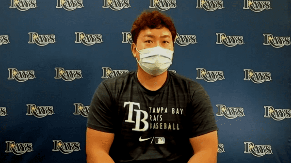 Rays first baseman Ji-Man Choi