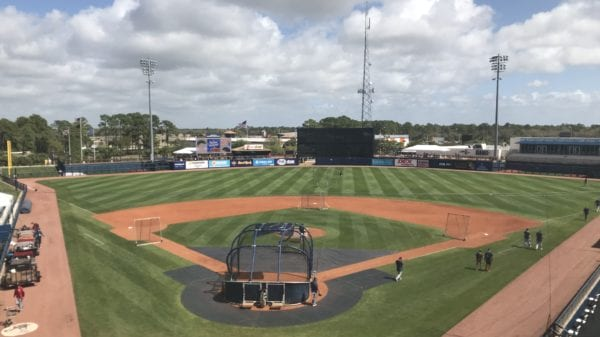 Charlotte Sports Park before the Rays take on the Twins