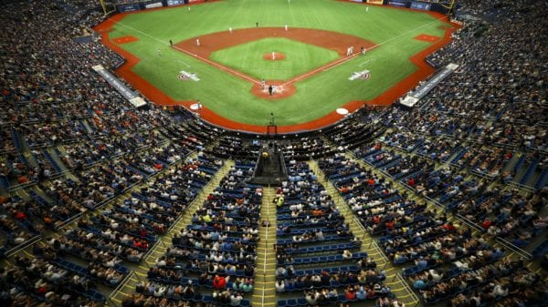 Opening Day at Tropicana Field