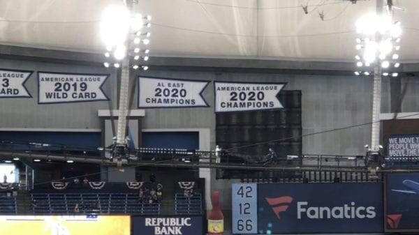 Rays 2020 Championship Banners