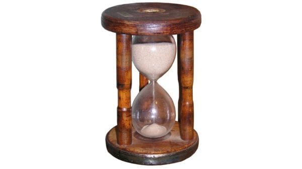 stock image of an hourglass
