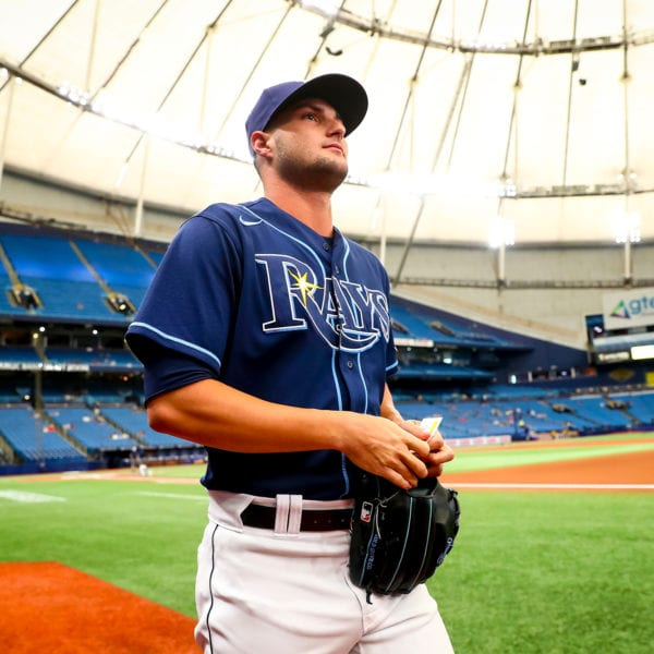 Rays pitcher Shane McClanahan