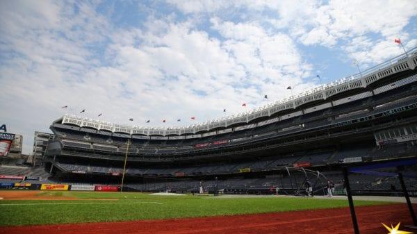 Yankee Stadium during BP in 2019